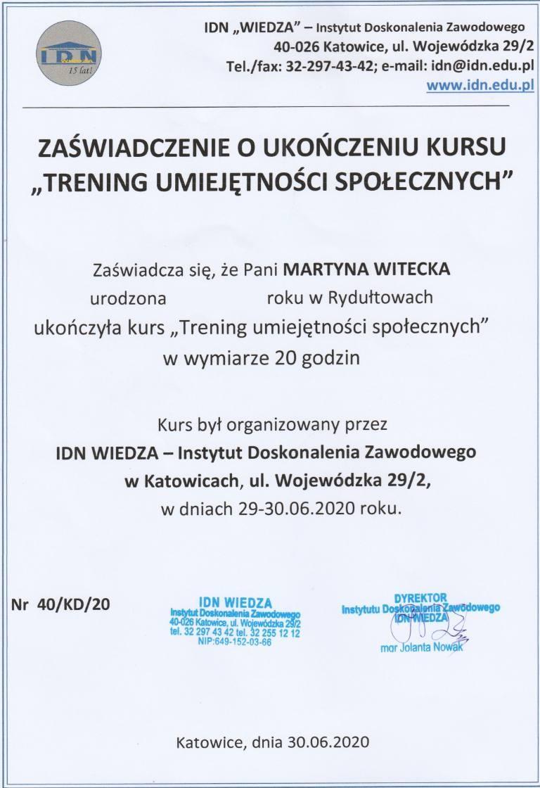 Dyplomy Martyna Witecka